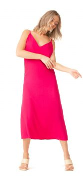 VESTIDO LALIBELA MIDI SLEEP DRESS ADAMA PINK