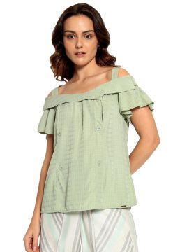Blusa Plano Lisa Energia Fashion Verde