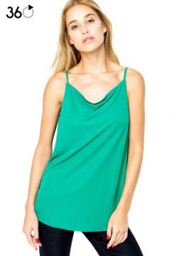 Blusa Finery London Chester Slash Neck Cami Verde