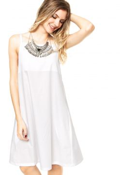 Vestido Finery London Juniper Square Neck Cami Branco