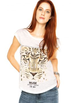 Camiseta MNG Barcelona Tigre Off-white