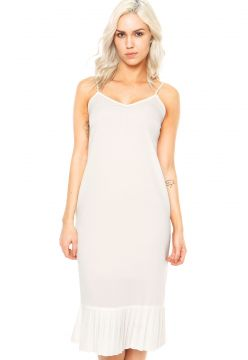 Vestido Finery London Harton Pleated Hem Slip Dress Branco