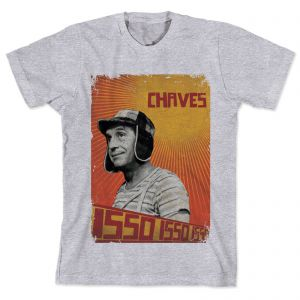 Camiseta Bandup Geek Chaves Isso! Isso! Isso! Vintage Cinza