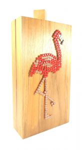 Bolsa Carteira / Clutch Elisa Sanchez Madeira Flamingo Made
