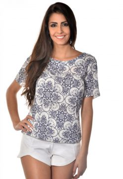 Blusa Banca Fashion Antonia Azul