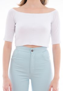 Top Maria Escandalosa Cropped Cigana Branco Maria Escandalo