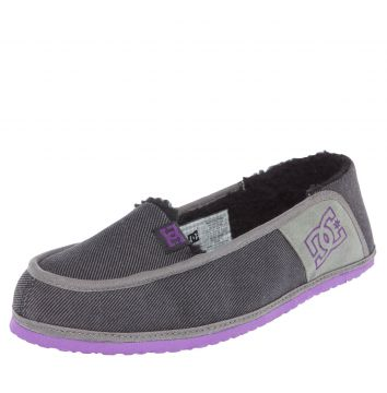 Mocassim DC Shoes Villain Slipper Cinza DC Shoes