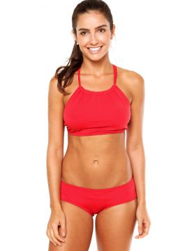 Calcinha Blue Horse Beatriz Sunguete Short Lycra Touch Red