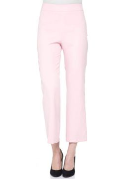CALÇA CROPPED FLARE COM ZIPER LATERAL-ROSA GREGORY