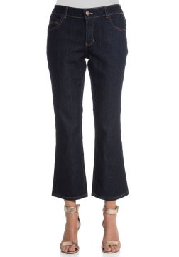 CALÇA JEANS CROPPED FLARE-AZUL JEANS GREGORY