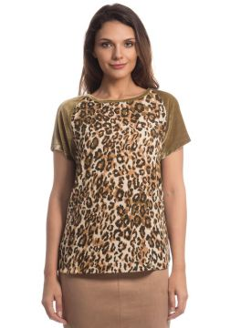BLUSA MANGA CURTA ANIMAL PRINT-VERDE GREGORY