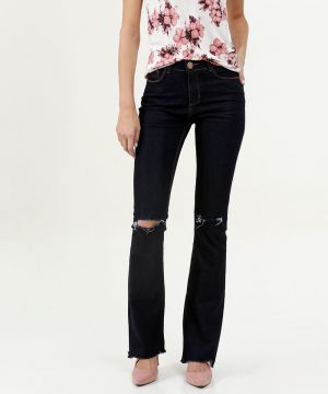 Calça Feminina Destroyed Flare Five Jeans