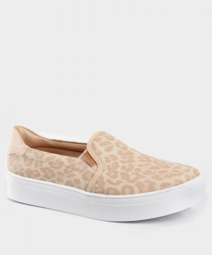 Tênis Feminino Slip On Estampa Animal Print Charmosy