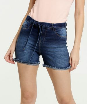 Short Feminino Jeans Clochard