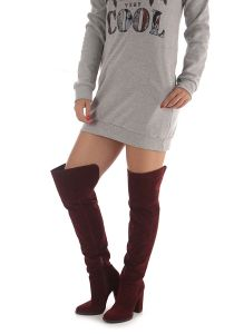 Bota Over The Knee Feminina Lara - Vinho