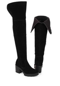 Bota Over The Knee Feminina Desmond - Preto