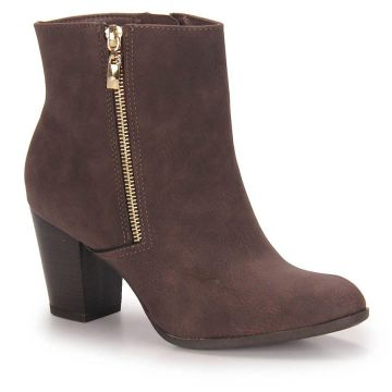 Ankle Boots Feminina Via Marte - Cafe
