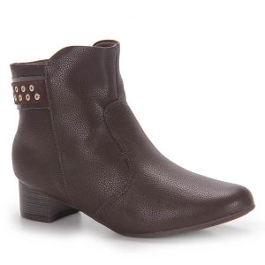 Ankle Boots Feminina Piccadilly - Marrom