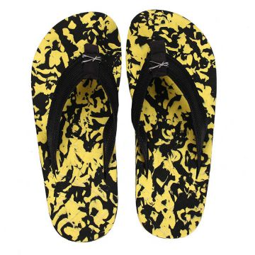 Chinelo Kenner Flakes - Pto/Amarelo