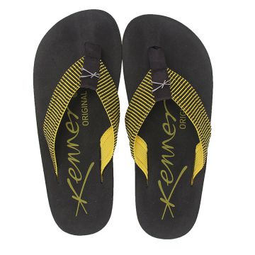 Chinelo Kenner Drop - Pto/Amarelo
