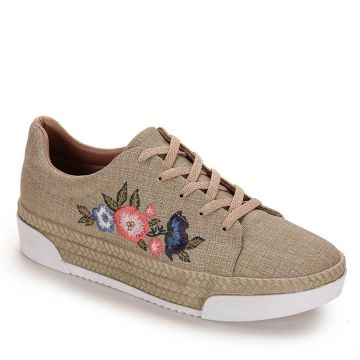 Tênis Casual Feminino Piccadilly - Bege