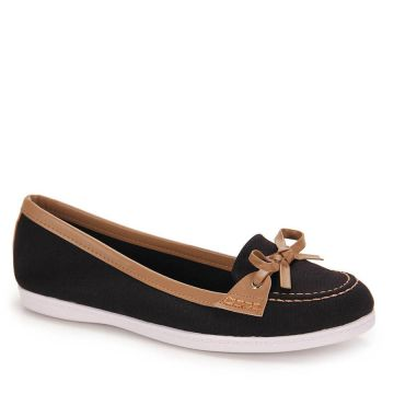 Sapato Dockside Moleca New - Preto