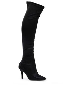 Bota Over The Knee Bico Fino Vizzano Stretch - Preto