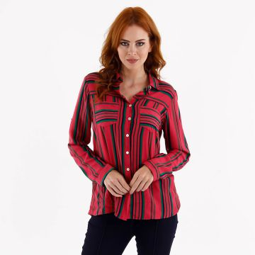 Camisa Casual Feminina For Why - Rosa