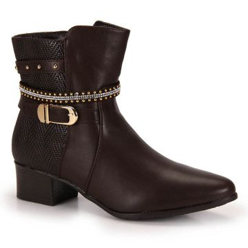 Ankle Boots Mooncity Tachas - Cafe