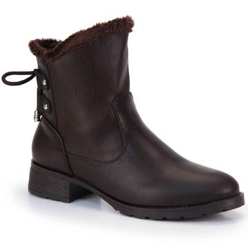 Ankle Boots Mooncity Pelúcia - Cafe