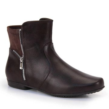 Ankle Boots Mooncity Zíper - Cafe