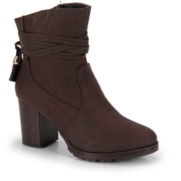 Ankle Boots Mooncity Tassel - Preto