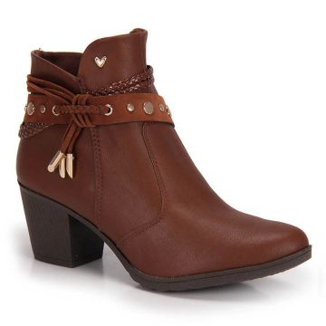 Ankle Boots Mississipi Tachas - Castanho