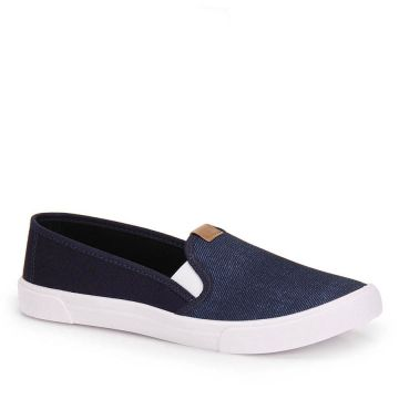 Slip On Moleca Bicolor - Jeans