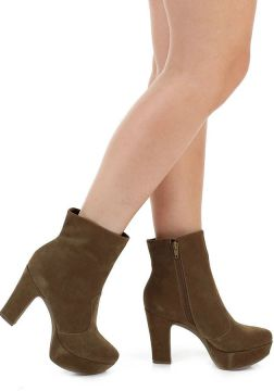 Ankle Boots Salto Grosso Lara - Caramelo
