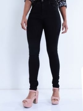 Calça Sarja Hot Pants Max Denin Preto